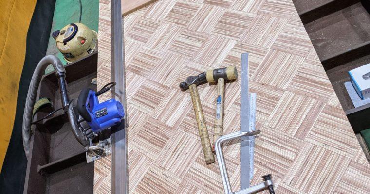 ダイニングテーブルの脚を製作~ついでに天板も製作~②